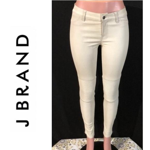 J Brand Denim - J BRAND Lamb Leather Moto Zip Skinny Jeans Pants